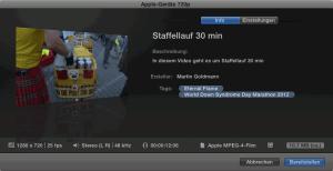 Export-Bildschirm von Final Cut Pro X
