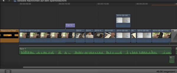 Arbeiten auf der Timeline von Final Cut Pro X
