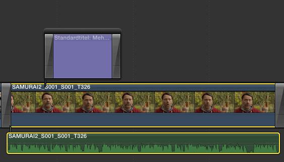 Videoclip mit abgetrennter Tonspur in Final Cut Pro X