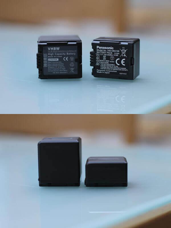 Vergleich zwischen den alten und neuen Akkus für die SD707
