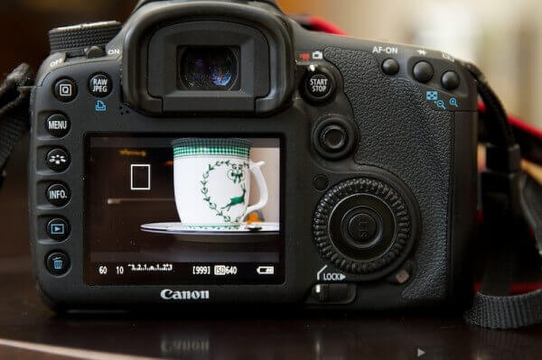 Display einer EOS 7D