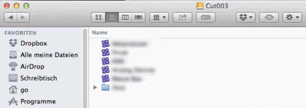 Die Mediatheken sind als Dateien auf der Festplatte zu finden.