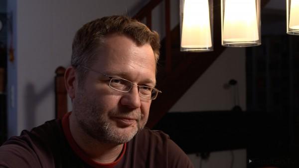 Eine Interview-Situation mit meinem Kompagnon Markus Schraudolph