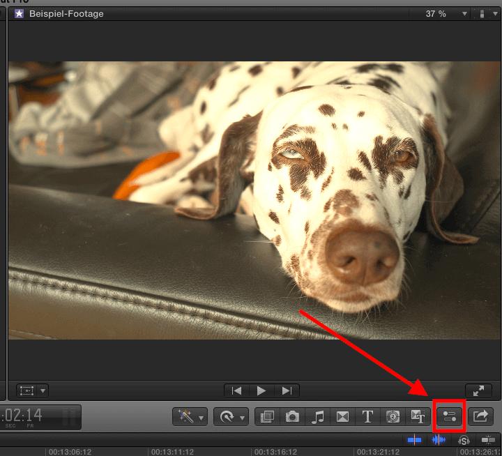 Final Cut Pro X: einen Clip rotieren