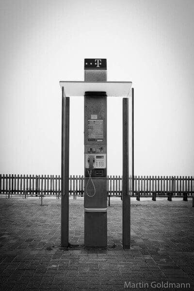 Borkums Telefonzellen: Hier das Schönwetter-Modell.