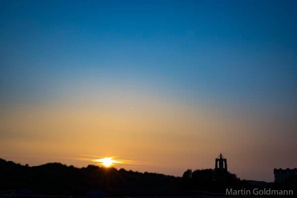 Sonnenuntergang auf Borkum.