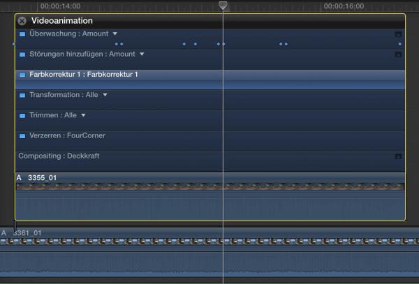 Mit Hilfe von Keyframes lassen sich Effekte einfach steuern.