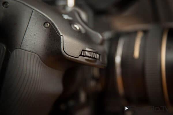 Das Blendenrad der Sony PXW FS5