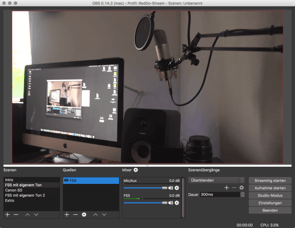 Live Streaming mit OBS