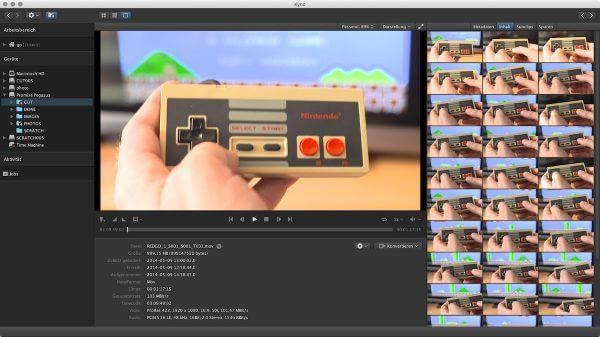 Überblick: Der Viewer zeigt den Inhalt eines Clips an. Per Klick springen Sie zu einer Position.