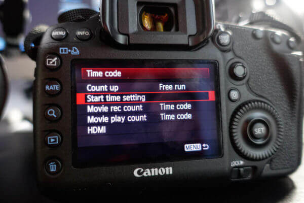 Free Run Timecode Canon EOS 5D MkIII