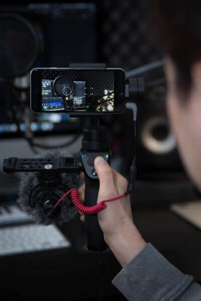 Schulung Handyvideo: iPhone auf DJI Gimbal