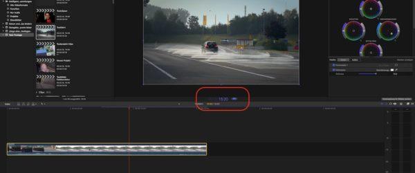 Final Cut Pro X: Länge eines Clips ändern