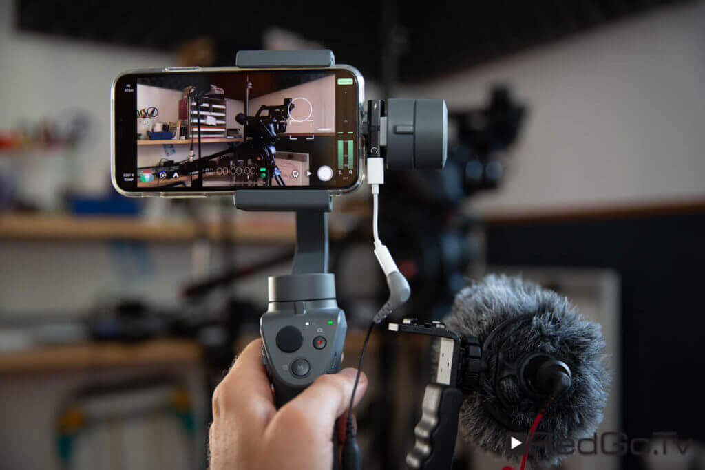 Osmo Mobile 2 mit iPhone X und Rode Mikrofon