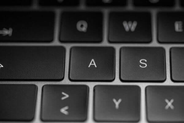 Tastatur zum Schreiben von Filmen