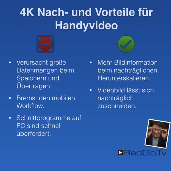 Handyvideo in HD oder 4K