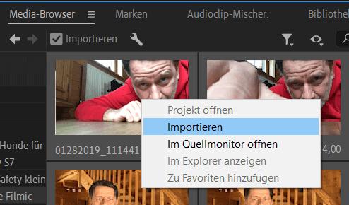 Dateien importieren