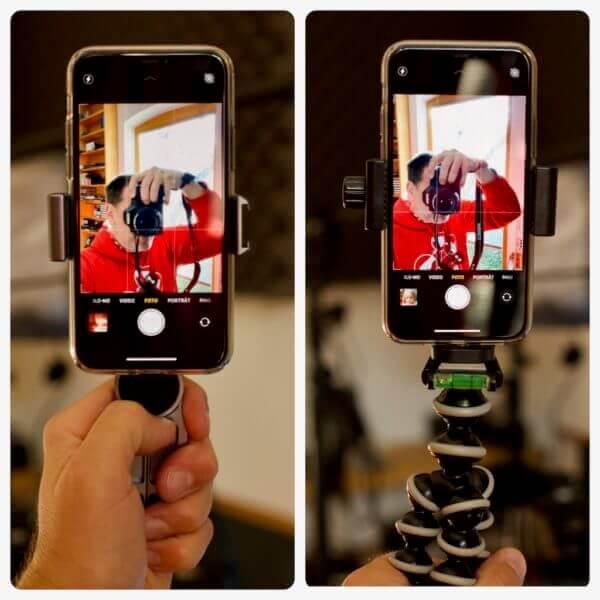 Handy-Halterungen für Selfies