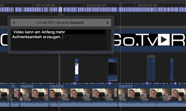 Untertitel in FCPX