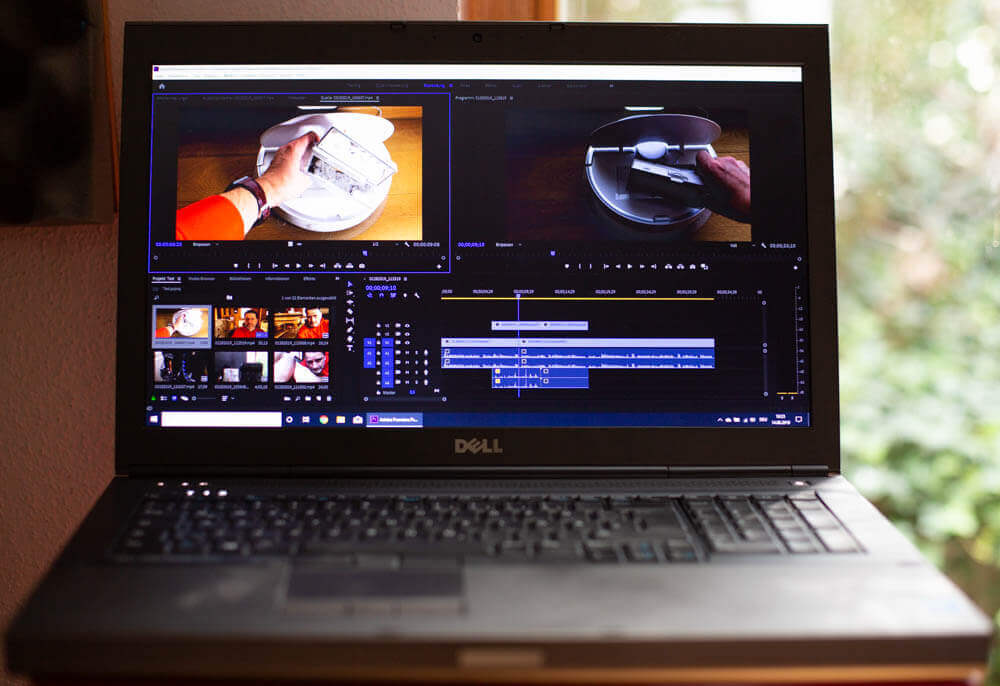 Dell Notebook mit Adobe Premiere CC