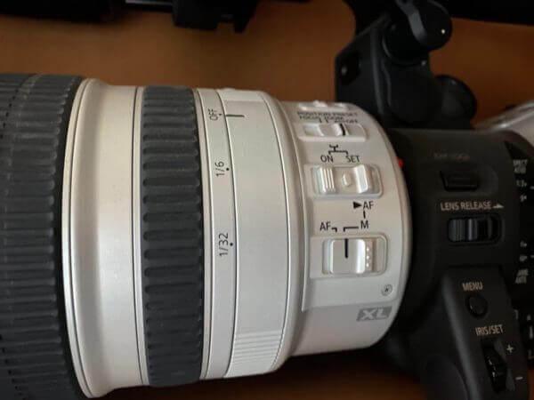 Umschalter Autofokus zu Manueller Fokus an Canon XL2