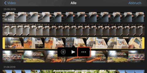 Videoschnitt mit iMovie (iOS)