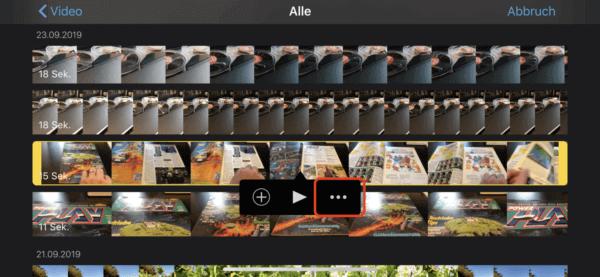 Schnittbilder einfügen mit iMovie iOS