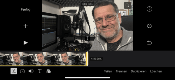 Clips in iMovie iOS zuschneiden