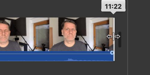 Videoschnitt mit iMovie (MacOS)