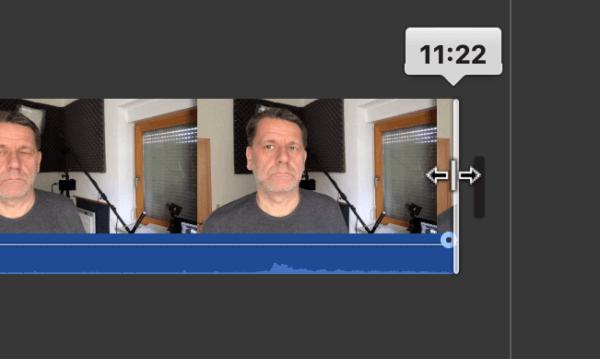 Rander von Videoclips in iMovie verschieben