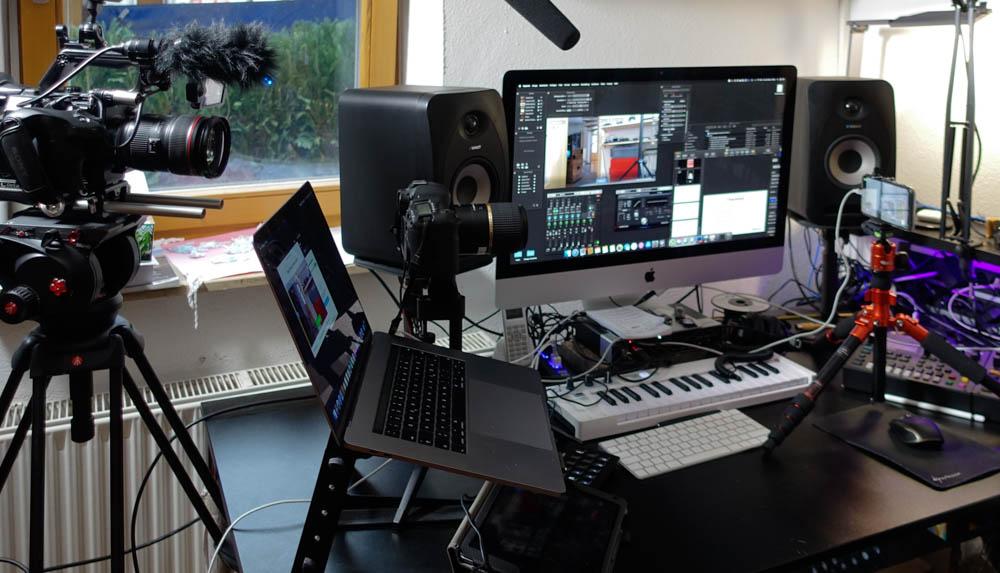 Setup für Online Seminar Handyvideo und Videoproduktion