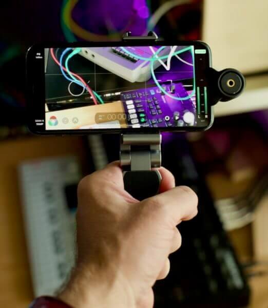 Smallrig Smartphone-Halterung als Handgriff